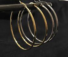 6cm de acero inoxidable hipoalergénico traviesas aretes - oro o plata