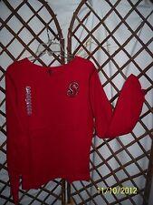 Cha Cha Vente Monogrammed Pullover Top Lg slv 100% ctn  Sz junior S/M& L NWT B6