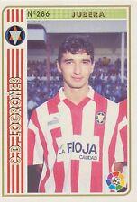 N°286 JUBERA # CD.LOGRONES OFFICIAL TRADING CARD MUNDICROMO LIGA 1995