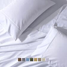 "650TC Solid Bed Sheet Set 22"" Super Deep Pockets Wrinkle Free Cotton Sheets"