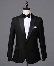 USA Seller: Men's Black The Groom Dress Tuxedo, Wedding Blazer (Include Pants)