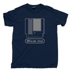 NES BLOW ME T Shirt Nintendo Entertainment System Mega Man Final Fantasy Tetris