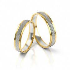 1 Paar Trauringe Eheringe Hochzeitsringe Gold 333 - Gelb-/Weißgold - Breite 4mm
