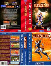 Alien Soldier UK PAL US Sega Megadrive Replacement Box Art Sleeves Insert Case