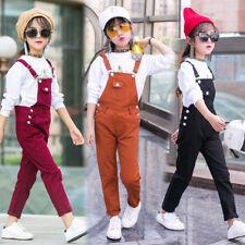 New Fashion Kids Girls Denim Jeans Suspender Pants Jumpsuits Romper Overalls hot
