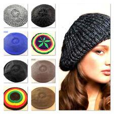 Neuf tendance hommes femmes crochet knit beanie skull cap béret baggy jamaican rasta
