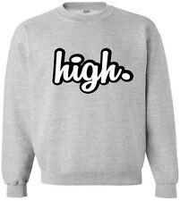 Kings of NY High Crewneck Sweatshirt New York Weed Drugs Marijuana Smoking LA