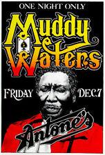 188186 Muddy Waters 1979 Antone's Austin TX Wall Print Poster UK