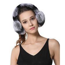 Unisex Rex Rabbit Fur Earmuffs Womens Earmuffs Winter Kids Real Fur Earwarmer