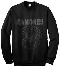 Amplified Ramones logotipo crewneck Black suéter talla S-XXL Band