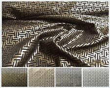 Deko Möbel Patchwork Stoffe Glitzer Glamour Vorhang Gardine 1281 in Gold Silber