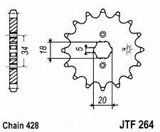 Pignon sortie de boite Honda CLR XLR XR  CBR 125 R L ; Pas: 428 ; 14 dents