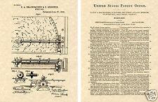Regina Music Box US Patent Art Print READY TO FRAME! 1893 Record Player