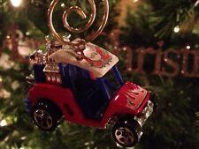 Custom Ez Go Club Car Yamaha 1/64th Golf Cart Ornament Chrome Mag Wheels Flames!