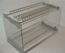 Scolapiatti inox con telaio e vaschetta per mobile da 45 - 60 - 80 - 90