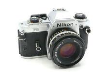 Nikon Chrome FG Manual Focus MF SLR Camera + Choice of Lenses (e.g. 50mm f/2.0)