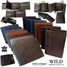 Herren Portemonnaie echt Leder Rindleder Geldbörse Wild Things Geldbeutel PV1*