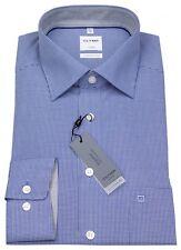 Olymp Herren Hemd Comfort Fit Check blau / weiß 3190 64 19