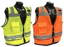 Radians SV59 Class 2 Heavy Duty Surveyor Safety Vest Mesh Solid Orange/Green