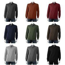 Croft & Barrow NEW Lightweight 3-Button Zip Mockneck Sweater Mens Big & Tall $50