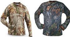 Da Uomo Mimetico Giungla Foresta vero albero a maniche lunghe T Shirt