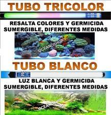 TUBO LUZ SUMERGIBLE ACUARIO BLANCO o TRICOLOR 30,40,50,60,80 o 100cm PANTALLA