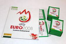 Panini EM EC Euro 2008 08 – 100 Tüten packets GRÜN GREEN + Display Box + ALBUM