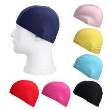Elastic Women Men's Swimming Cap Waterproof Fabric Bathing Hat Sports Wear