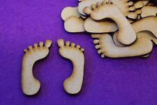 MDF Feet Footprints 2cm, 3cm, 4cm, 5cm - Laser cut wooden shape