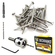 Decking Screws Stainless Steel 304 12G 65mm Hardwood Merbau Timber Carb-I-Tool