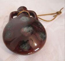 Beautiful vintage hanging vase pottery lovely Glazed signed Eyal Israel