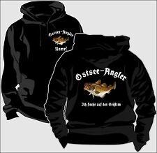 Sweatshirt Kapuzenpullover Pullover Angler Ostseeangeln Dorsch Kabeljaushirt 65