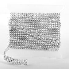 SILVER DIAMOND DIAMANTE EFFECT RIBBON TRIM CAKE BRIDAL CRAFT 1 2 3 4 5 10 24 Row