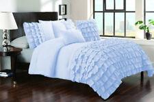 1 Piece Half Ruffle UK King Size Duvet Cover 800 TC 100% Egyptian Cotton