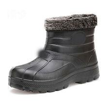 Men new snow flat high EVA waterproof warming fishing hiking winter boots 40-45