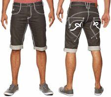 Rocawear Hombres Chicos 3/4 Grueso Rick Estrella De Verano Pantalones Cortos De Mezclilla Hip Hop Tiempo Dinero G