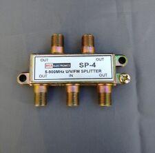 (1-50 PCS) DLS 4-Way 5-900 Mhz Cable TV/Antenna Splitter