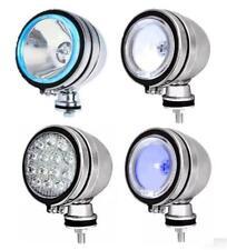 "2X SPOT LIGHTS WITH WHITE BLUE LED HALOGEN SPOTLIGHTS FOGLIGHTS 4"" 6"""