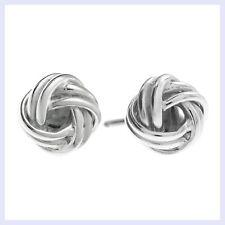 Sterling Silver True Love Knot Ball Stud Post Earring 10mm