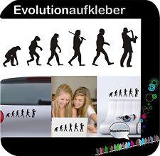 Saxophon Evolution Saxofon Folie Wandaufkleber Sticker Wandtattoo Aufkleber W451