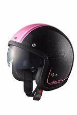 Motorcycle Biker Moped Cruiser Sniper Style HELMET Vespa Retractable Shield Pink
