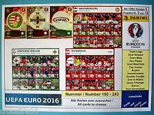 Panini Adrenalyn EM Euro 2016 -Hungary,N Ireland,Austria Alle Karten # 190 - 243