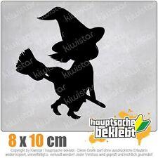 KIWISTAR Hexe auf Besen Halloween  Grusel Horror csf0897 8 x 10 cm Aufkleber