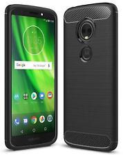 For Motorola Moto Z Z3 E5 G6 Plus Play New Black Carbon Fibre Gel Phone Case