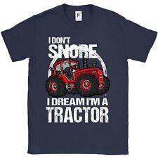 Je ne pas ronfler je rêve Je suis un tracteur Big Red Farm T-shirt Homme