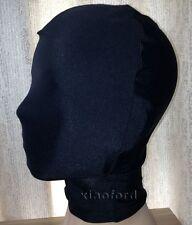 Lycra Spandex zentai Full Black Mask/hood size S-XXL