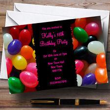 Jelly Bean Dulces Personalizados Para Niños Fiesta Invitaciones