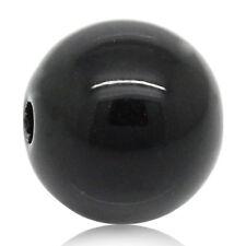 "500PCs Black Round Acrylic Spacers Beads 8mm(3/8"") Dia. GW"