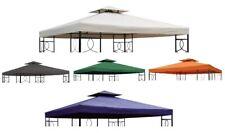Pavillon Ersatzdach mit Kaminabzug 3x3 PVC # 5 Farben # WASSERDICHT Pavillondach