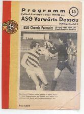DDR-Liga 79/80 ASG hacia adelante Dessau-BSG Chemie premnitz (20.04.1980)